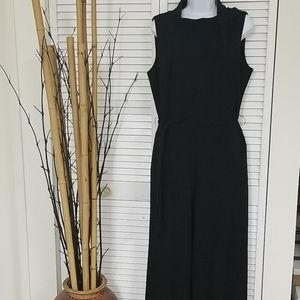 NWT DKNY Black Jumpsuit with collar detail